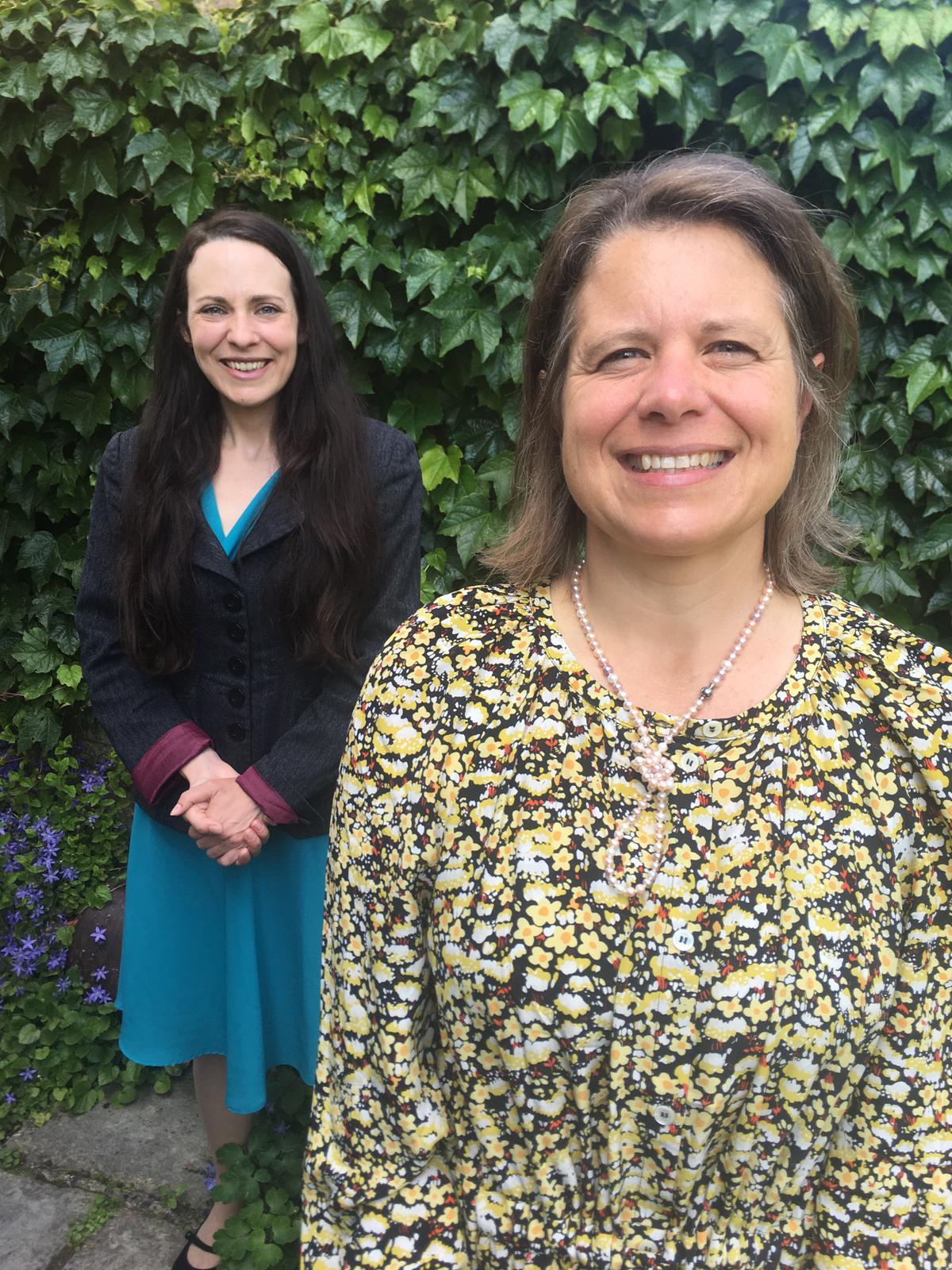Joanna Wright with deputy leader of the Green Party, Amelia Womack